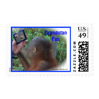 Orangutan Fan Postage Stamp