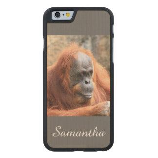 Orangután Funda De iPhone 6 Carved® De Arce