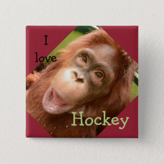 Orangutan Hockey at OFI Care Center Pinback Button