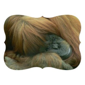 """Orangután Invitación 5"""" X 7"""""""