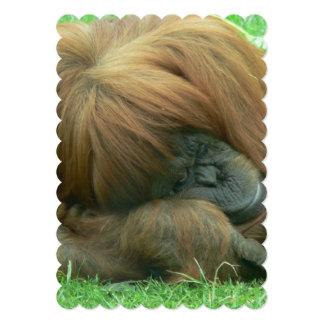 "Orangutan 5"" X 7"" Invitation Card"
