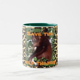 Orangutan Jungle Animals Wild Thang Two-Tone Coffee Mug