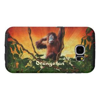 Orangutan & Jungle Sunrise Wildlife Art Samsung Galaxy S6 Case