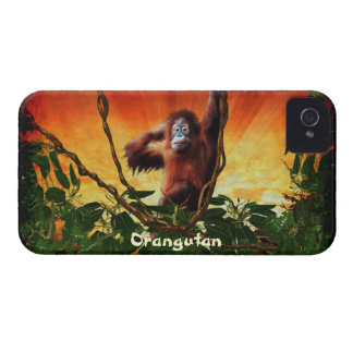 Orangutan, Jungle Sunrise Wildlife Blackberry Case
