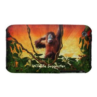 Orangutan & Jungle Sunrise Wildlife iPhone 4 Cover