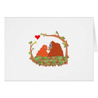 Orangutan Love Card