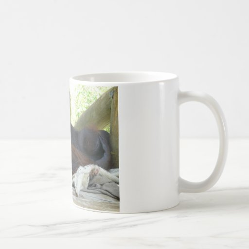 orangután masculino taza básica blanca