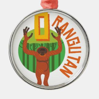 Orangutan Metal Ornament