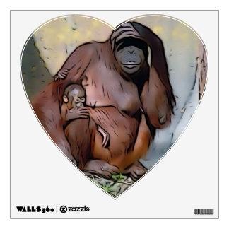 Orangutan Mom and Baby Wall Decals
