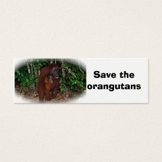 Orangutan Mother and Baby bookmark Mini Business Card