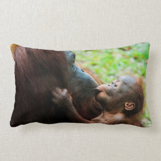 Orangutan mother and baby lumbar pillow