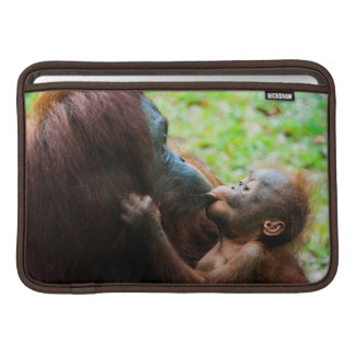 Orangutan mother and baby sleeve for MacBook air