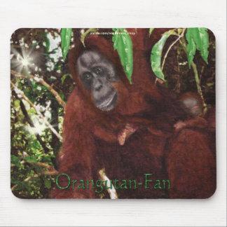 Orangutan Mother & Baby Wildlife-support Mousepad