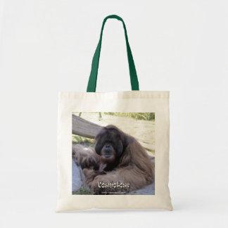 Orangután - o su imagen aquí bolsa tela barata