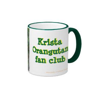 Orangután oficial de Krista del club de fans Tazas