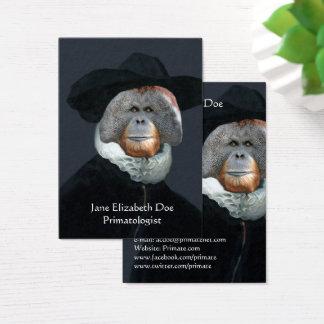 Orangutan on a Rembrant Business Card