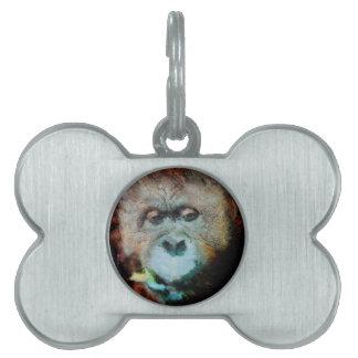 Orangutan Pet Tag