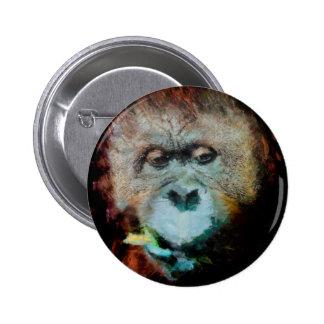Orangután Pin Redondo De 2 Pulgadas