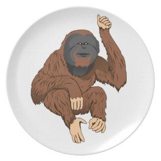 Orangutan Party Plates
