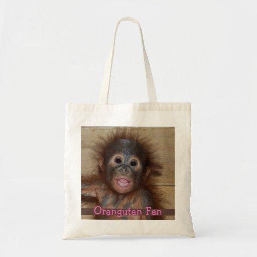 Orangután precioso del bebé bolsa