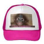 Orangután precioso gorro de camionero