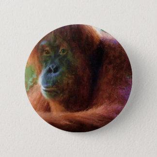 Orangutan Primate Portrait Wildlife Art Gift Button