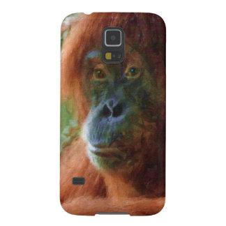 Orangutan Primate Portrait Wildlife Art Gift Galaxy S5 Case