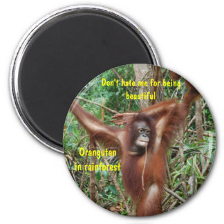 Orangutan Rainforest Pin-Up Girl Humor Magnet