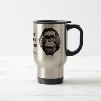 Orangutan Rainforest Preservation Official Logo Travel Mug
