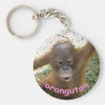 Orangutan Rainforest Snack Basic Round Button Keychain