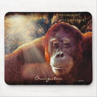 Orangutan & Rainforest Wildlife-support Mousepad