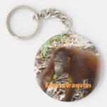Orangutan Rebecca in Borneo Key Chain