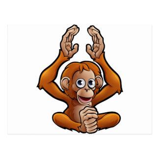 Orangutan Safari Animals Cartoon Character Postcard
