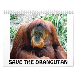 orangutan, SAVE THE ORANGUTAN Calendar