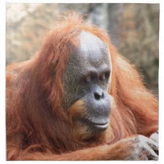 Orangután Servilleta Imprimida
