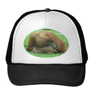 Orangutan Snoozing Baseball Cap Trucker Hat