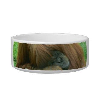 Orangutan Snoozing Pet Bowl Cat Bowl