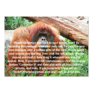 """Orangután soñoliento invitación 5"""" x 7"""""""