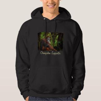 Orangutan Supporter Red Ape Wildlife Art Hoodie