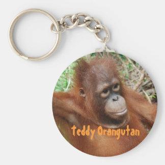 Orangutan Teddy on Island of Borneo Basic Round Button Keychain