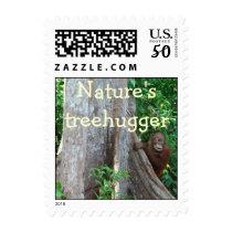 Orangutan Treehugger Earth Day Postage
