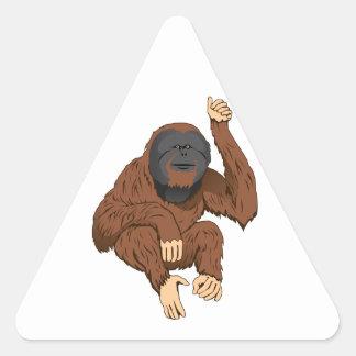 Orangutan Triangle Sticker