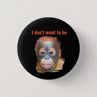 Orangutan Wildlife Pinback Button