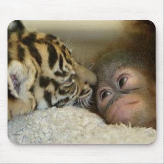 Orangután y tigre Mousepad
