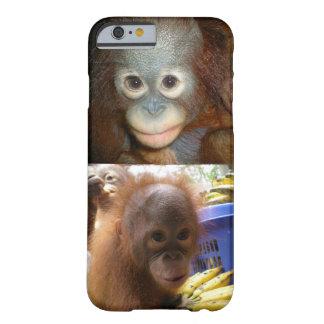Orangutanes Borneo del bebé Funda Para iPhone 6 Barely There