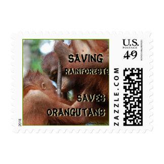 Orangutans and Rainforest Conservation Postage