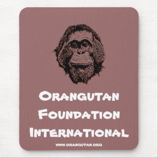Orangutans Borneo OFI charity logo Mouse Pad