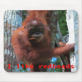 Orangutans  I like redheads Mouse Mats