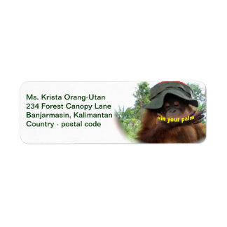 Orangutans In Your Palm Label