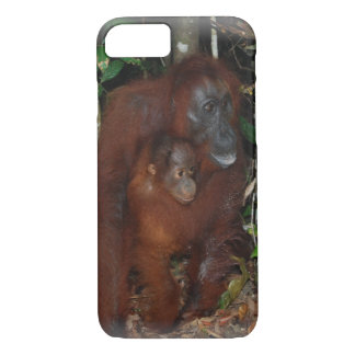 Orangutans Mother and Baby iPhone 7 Case